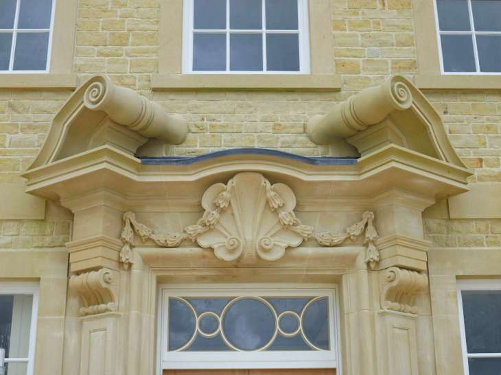 Wealden Sandstone Coursed Split Faced Walling (CSFW) & Stone Masonry - Kingsham Farm