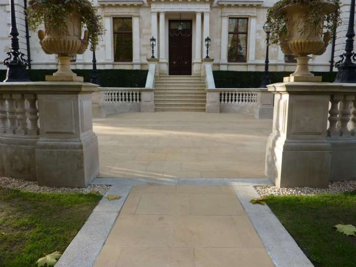 Steps and Paving in Port Regent Limestone (PREG)