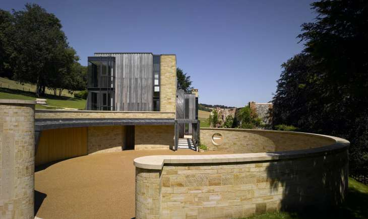 Wealden Sandstone Walling Downley House RIBA House of the Year